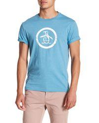 Original Penguin Blue Circle Logo T-shirt for men