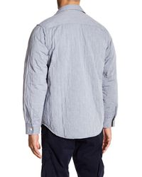 Tommy Bahama Blue Quiltessential Chambray Shirt Jacket for men