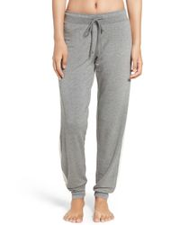 Pj Salvage - Gray Cable Knit Trim Jogger Sweatpants - Lyst