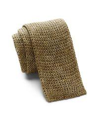 John Varvatos - Multicolor Knit Skinny Linen Tie for Men - Lyst