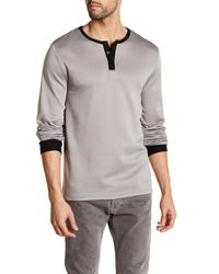 United By Blue | Gray Standard Long Sleeve Henley for Men | Lyst