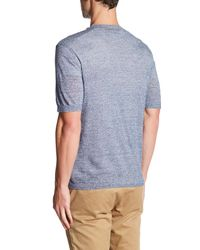 Autumn Cashmere - Blue Short Sleeve V-neck Shirt for Men - Lyst