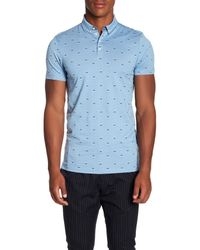 Scotch & Soda Blue Classic Clean Jersey Polo for men