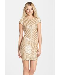 Dress the Population - Metallic 'Tabitha' Geometric Sequin Minidress - Lyst