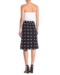 Pleione Black Printed Pull-on Skirt