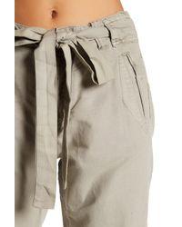 Free People - Gray Universal Linen Blend Boyfriend Pant - Lyst