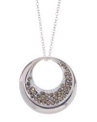 Argento Vivo - Metallic Sterling Silver Round Cutout Pendant Necklace - Lyst