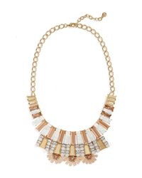 BaubleBar - Metallic Caralyn Stone & Crystal Accent Statement Necklace - Lyst