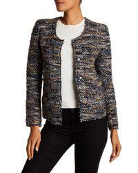 IRO Gray Boucle Knit Jacket