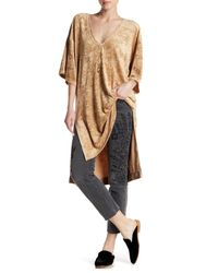 Free People Multicolor The Luxe Crushed Velvet Hi-lo Tee