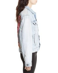 Free People | Blue Paisley Quilted Denim Jacket | Lyst