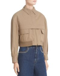 Stella McCartney - Natural Trench Bomber Jacket - Lyst