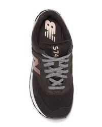 New Balance Black 574 V1 Varsity Sport Sneaker