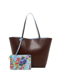 Cynthia Rowley Brown Alma Colorblock Leather Tote