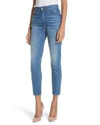 Alice + Olivia Blue Good High Waist Ankle Skinny Jeans (side Hustle)