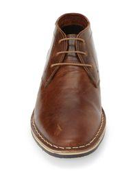 Steve Madden - Brown 'harken' Leather Chukka Boot for Men - Lyst