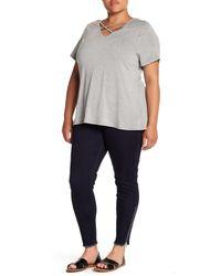 REBEL WILSON X ANGELS - Blue Side Leg Zipper Ankle Jegging (plus Size) - Lyst