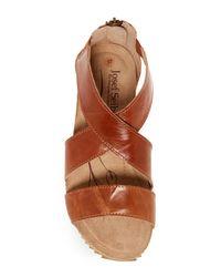 Josef Seibel | Brown Meike Wedge Sandal | Lyst