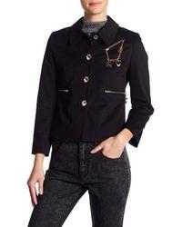 Love Moschino Black Love Peace Jacket