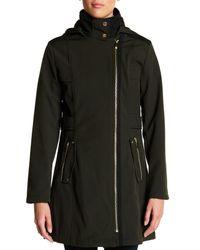 Via Spiga - Black Faux Fur Lined Asymmetrical Military Soft Shell Jacket - Lyst
