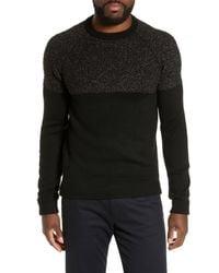 Ted Baker - Black Arks Slim Fit Textured Crew Sweater for Men - Lyst