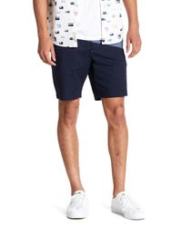 Original Penguin Blue Colorblock Shorts for men