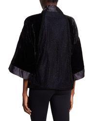 Sam Edelman - Black Velvet Smoking Jacket - Lyst
