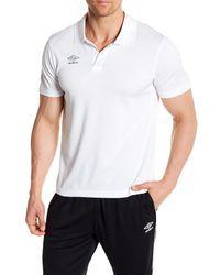 Umbro - White Heathered Polo for Men - Lyst