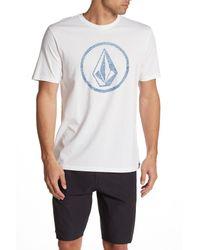 Volcom White Classic Stone Short Sleeve Crew Neck T-shirt for men
