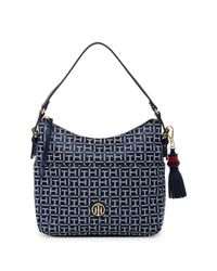 Tommy Hilfiger Blue Summer Of Love Small Hobo