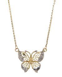 Liberty - Metallic 10k Gold Butterfly Necklace - Lyst