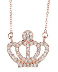Liberty - Metallic Swarovski Crystal Embellished Crown Necklace - Lyst
