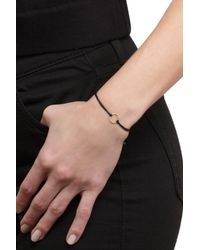 Dogeared - Metallic Sterling Silver Karma Sparkle Ring Cord Bracelet - Lyst