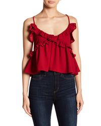 Romeo and Juliet Couture Red Ruffled Babydoll Tank