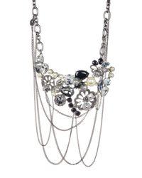 Marc Jacobs - Metallic Daisy Statement Necklace - Lyst