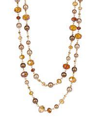 Carolee | Metallic Beaded Rope Necklace | Lyst