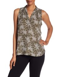 Vince Camuto - Multicolor Printed Tank Top - Lyst