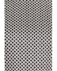 Cece by Cynthia Steffe Black Trellis Link Belt Detail Fit & Flare Dress