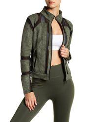 Electric Yoga - Green Fearless Biker Jacket - Lyst