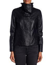 Dawn Levy - Black Hi-lo Leather Jacket - Lyst