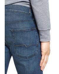 7 For All Mankind - Blue Slimmy Straight Leg Jeans for Men - Lyst