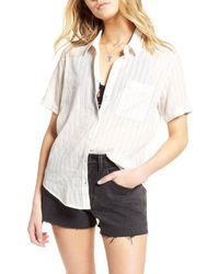 Treasure & Bond White Stripe Shirt