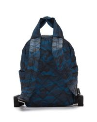Marc Jacobs - Blue Camo Printed Nylon Knot Backpack - Lyst