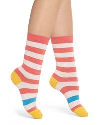 Paul Smith - Pink Fearne Stripe Crew Socks - Lyst
