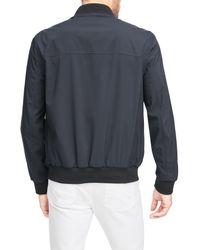 Andrew Marc - Black Flap Pocket Franklin Bomber Jacket for Men - Lyst