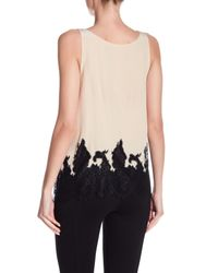 Alice + Olivia - Black Marge Lace Cowl Back Silk Tank Top - Lyst