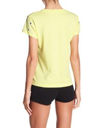 Wildfox - Yellow Daisy Embroidered Tee - Lyst