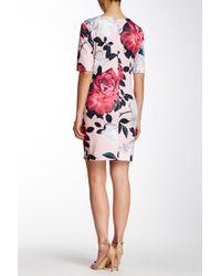 Cece by Cynthia Steffe Pink Romantic Flower Shift Dress