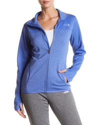 The North Face - Blue Amazie Mays Front Zip Jacket - Lyst