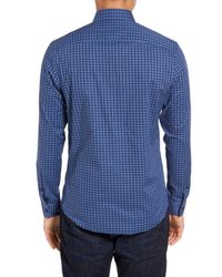 Calibrate | Blue Slim Fit Non-iron Check Sport Shirt for Men | Lyst